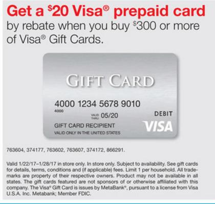 FREE CASH POINTS: Staples $300+ In Visa Giftcards $20 Visa Rebate