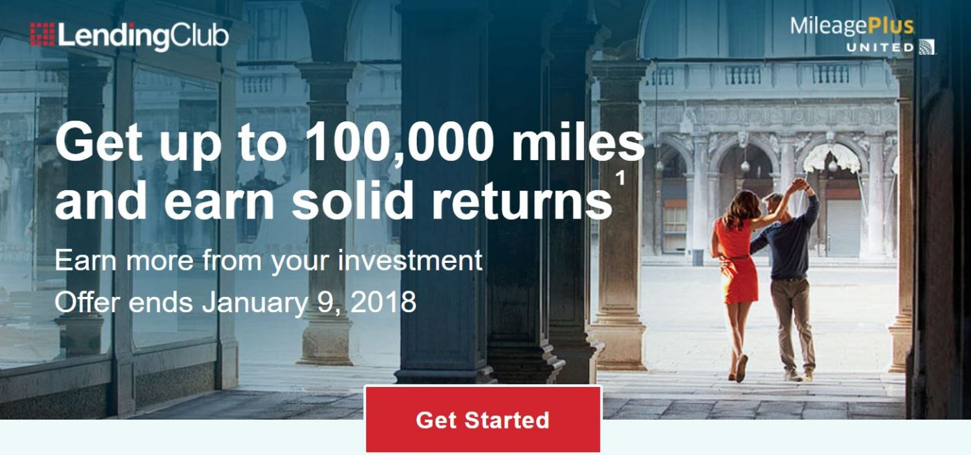 Earn up to 100,000 United MileagePlus miles through LendingClub