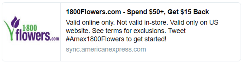 Amtrak – 30 points per dollar from 1800Flowers.com