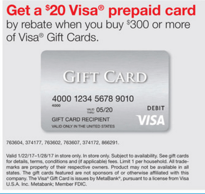 FREE CASH POINTS: Staples $300+ In Visa Giftcards $20 Visa Rebate