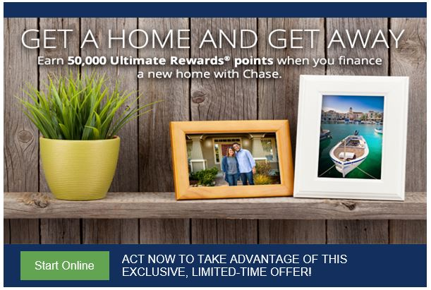 Chase Mortgage: Earn 50,000 Chase Ultimate Rewards Points