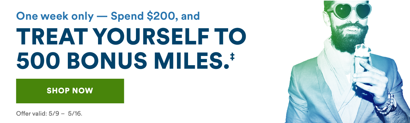 Treat Yourself – Earn 500 Bonus Alaska Airlines Miles for Shopping
