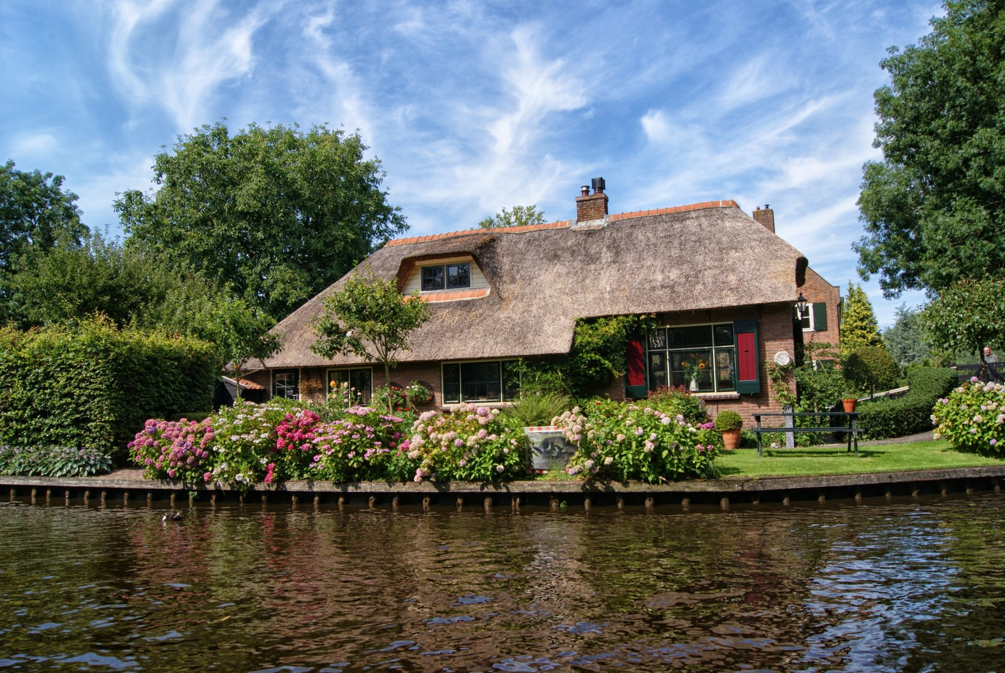 Cottage on a river