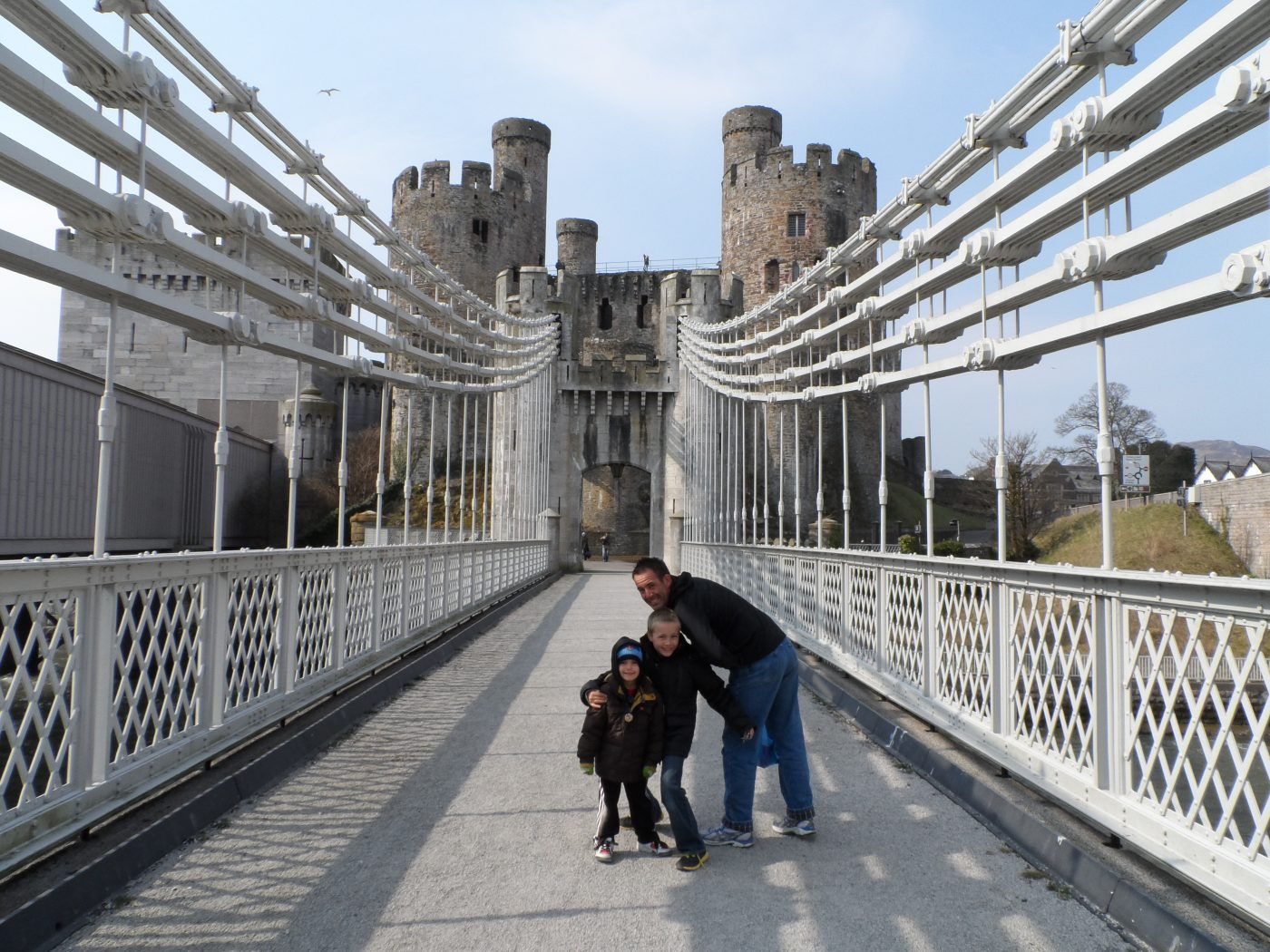 Conwy, Wales, Suspension Bridge - Conwy Castle