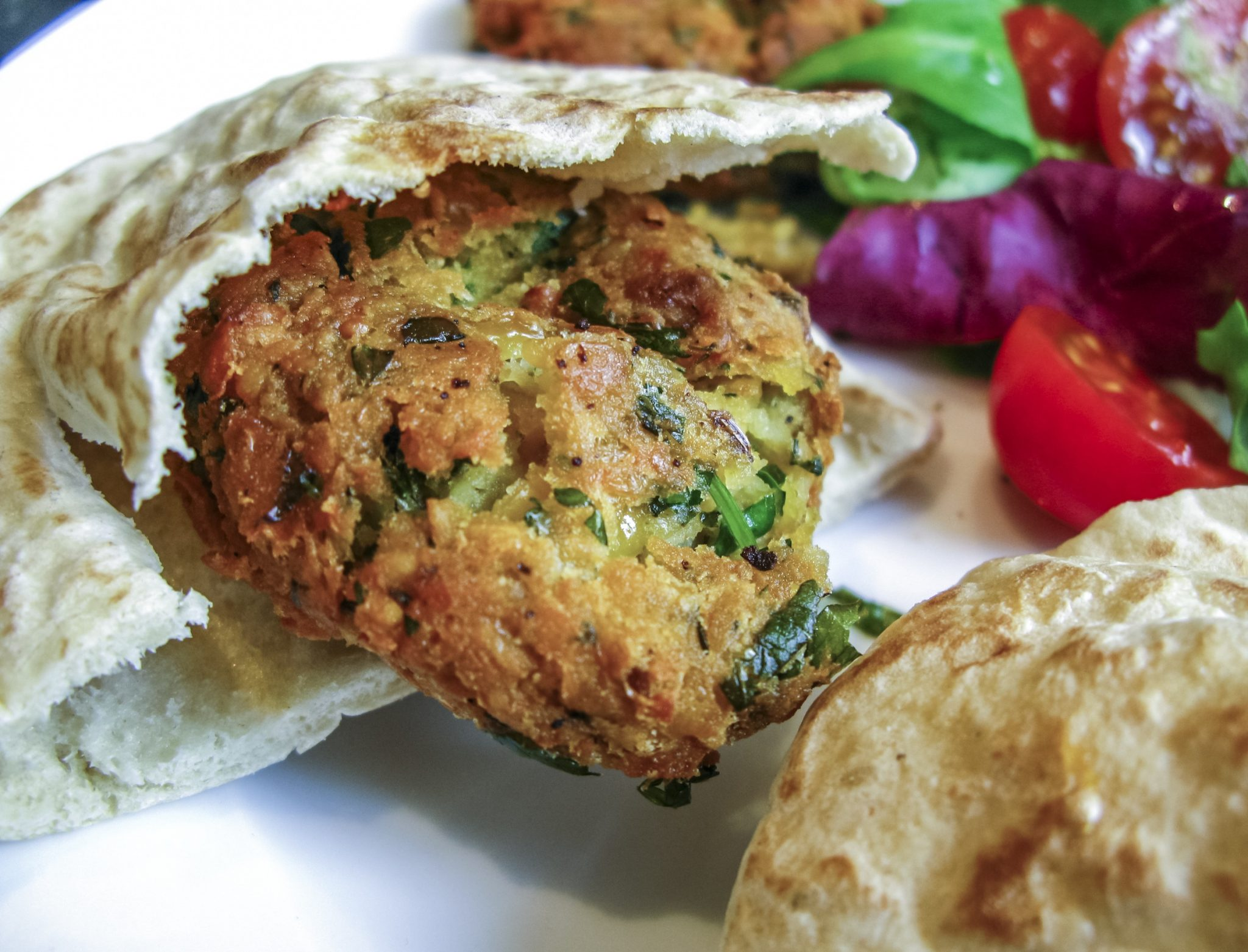 Israelis Food - Falafel - Pitta Bread