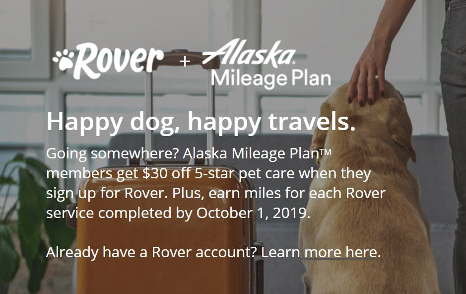 Earn Alaska Airlines Miles for Doggie Care with Rover
