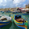 Malta - fishing boats-port