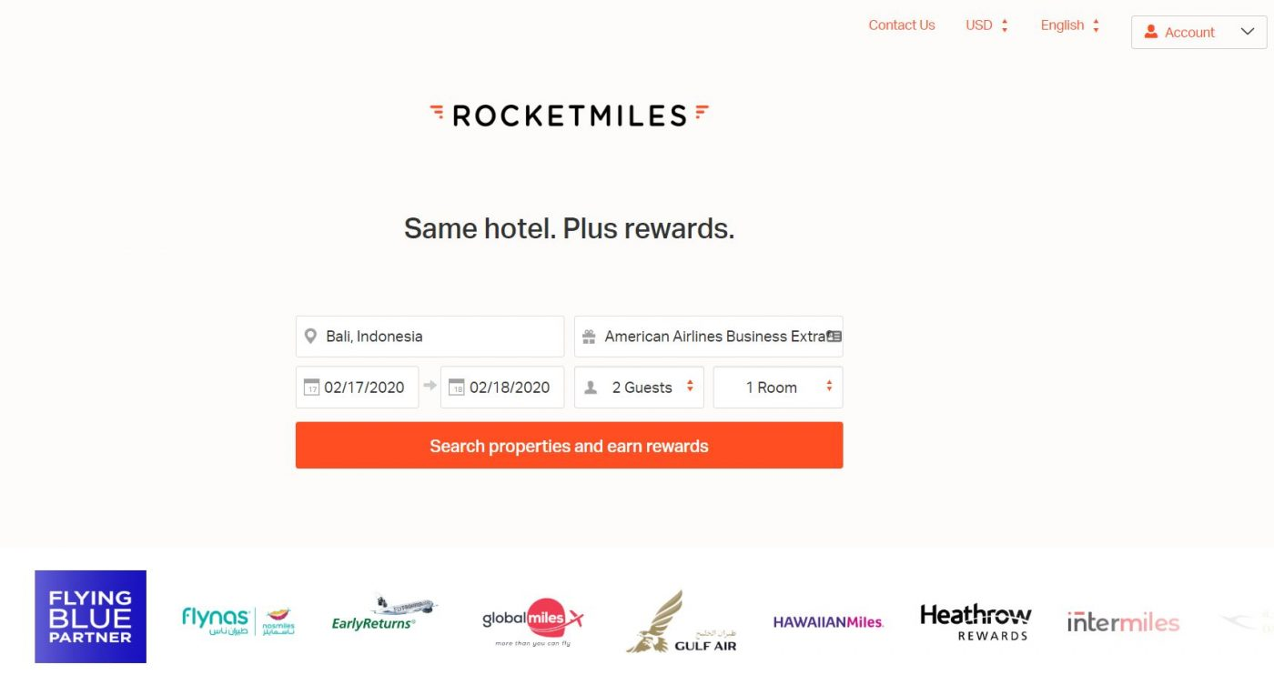 Rocketmiles 2020 Bucket List Giveaway- WIN 10,000 MILES