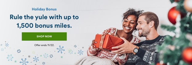 Alaska Airlines Holiday Shopping Bonus