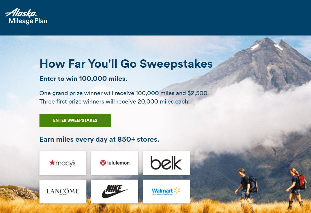 Alaska Airlines – How Far You'll Go Sweepstakes