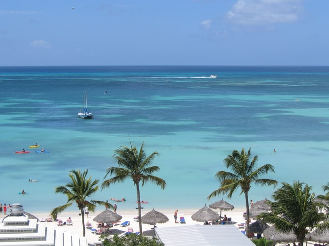 Aruba in Carribea is known for gorgeous beaches, business meetings and tax incentives